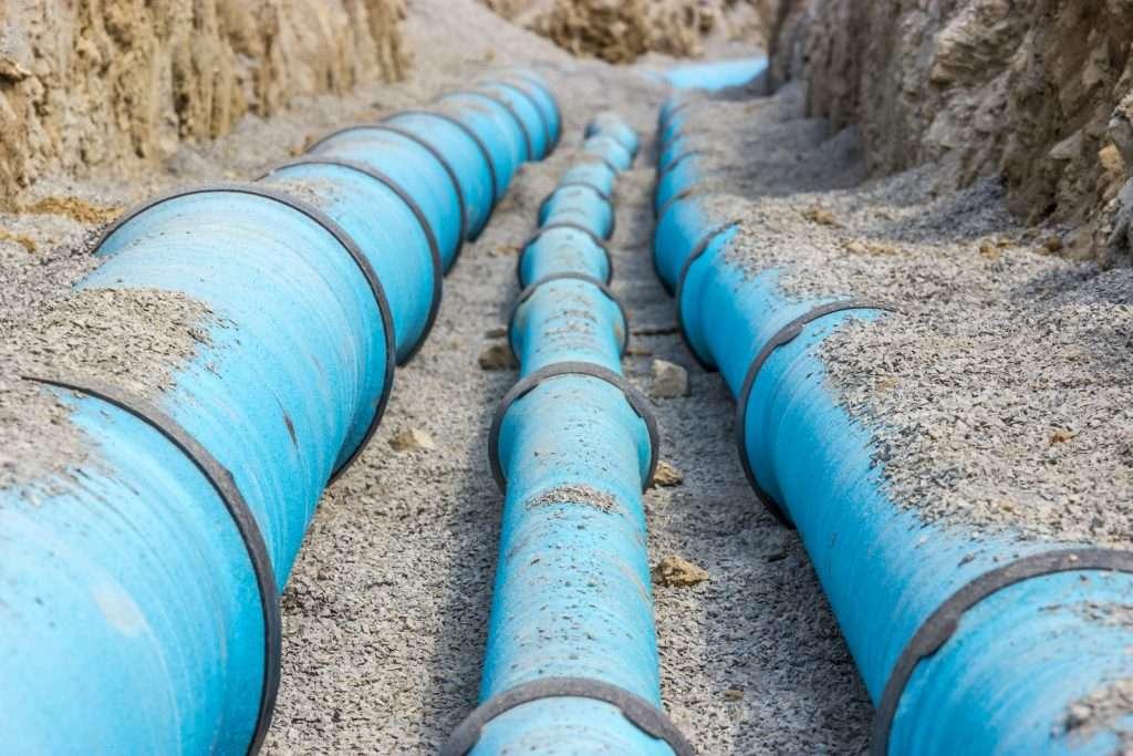 Brandel Bau - Tiefbau (Hauptwasserleitung im Leitungsgraben)